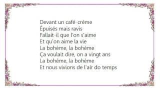 Charles Aznavour - La bohème song Lyrics