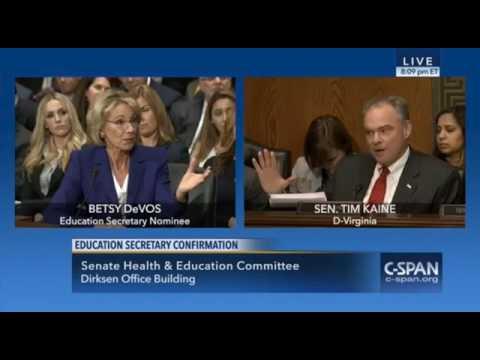 The Worst of Betsy DeVos Highlights Bernie Sanders Elizabeth Warren Tim Kaine and Al Franken