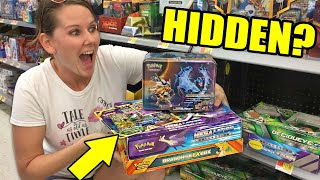 FIRST TIME EVER! SHE GOES SEARCHING FOR HIDDEN POKEMON CARDS IN STORE!