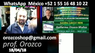 Que te hace mejor técnico 36 programa tv 18 de abril 2018 Prof Guillermo Orozco