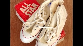 Classic natural white USA-MADE Converse NEW-IN-BOX All Star Chuck Taylor shoes at collectornet.net