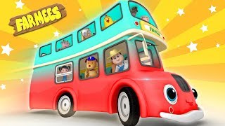The Wheels on the Bus Go Round and Round | New Nursery Rhymes
