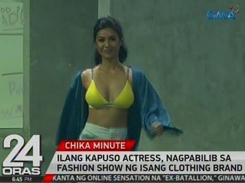 24 Oras: Ilang Kapuso actress, nagpabilib sa fashion show ng isang clothing brand