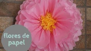 DIY flores con papel de china o seda / como hacer