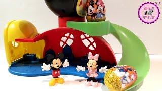 Mickey & Minnie juegan en el tobogán y bajan Huevos Sorpresa de Disney!!