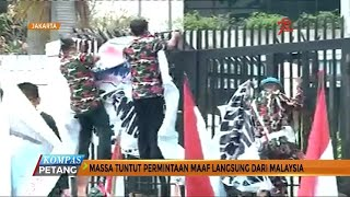 Soal Bendera Terbalik, Massa Demo Kedubes Malaysia