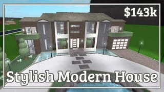 Bloxburg - Stylish Modern House Speed-build