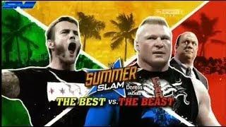 WWE Summerslam 2013 CM Punk Vs Brock Lesnar