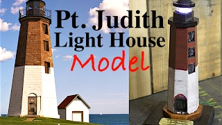 Pt  Judith Lighthouse Model Made From a Boat