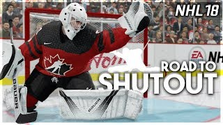 NHL 18 ROAD TO SHUTOUT #8 *IT'S ACTUALLY HAPPENING*