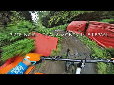 Black Downhill run - Crans Montana Bikepark