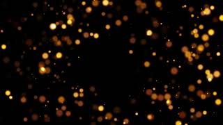 4k Abstract golden bokeh particles background video free download
