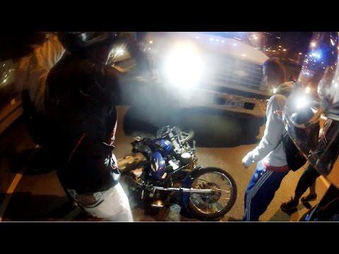 Accidente en RX 115 Yamaha Perdida total de moto Piloto se salva