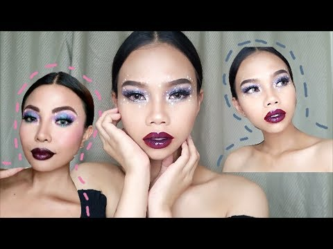 I Tried Following Michelle Dy's Galaxy Makeup Tutorial | Amy Talaboc