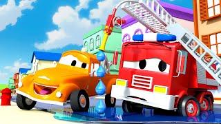 Franks beschädigter Schlauch  - Tom der Abschleppwagen in Car City 🚗 Cartoons für Kinder
