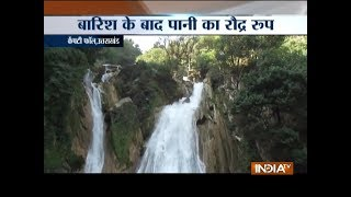 Heavy rain triggers landslide near Mussoorie's Kempty Fall and Sirmour, HP