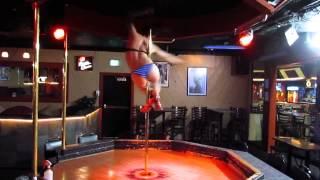 Advanced stripper pole dancing