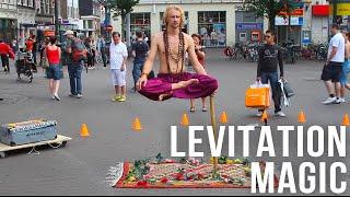 Magician Ramana Impossible Balance (Indian Magic) in Leidseplein, Amsterdam