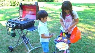 バーベキュー おもちゃ BBQ パーティー お出かけ こうくんねみちゃん BBQ Toy Little Tikes