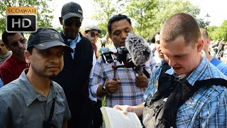 P1 - Unwanted Answers! Mansur Vs Christian visitor   Speakers Corner   Hyde Park