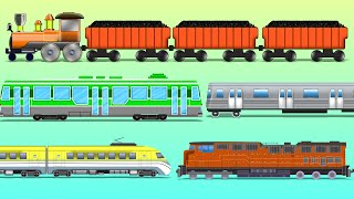 Trains | Railway Vehicles | Street Vehicles | learn transports | baby videos
