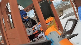 Nerf War:  First Person Shooter Atomic Fireballs Kids React