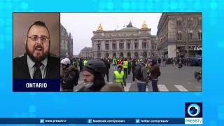 French protesters demanding more democracy less capitalism