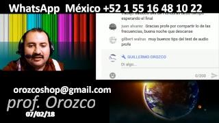 Que te hace mejor técnico 29 programa tv 7 de Febrero 2018 Prof Guillermo Orozco