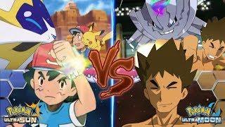 Pokemon Battle USUM: Pokemon Ash Vs Brock (Ash Solgaleo Vs Mega Steelix)