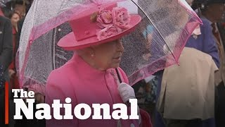 Queen Elizabeth caught on video in diplomatic gaffe