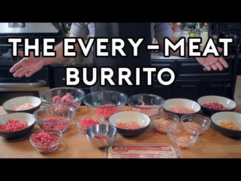 Binging with Babish 2 Million Subscriber Special The Every Meat Burrito from Regular Show