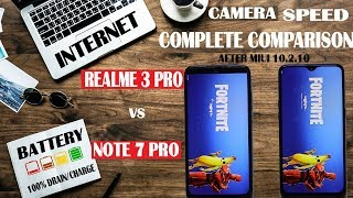 RealMe 3 Pro vs Redmi Note 7 pro #Extreme Test#Camera#Speed#Battery#internet#gaming