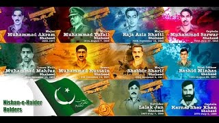 Nishan-e-Haider Holders List and Pictures