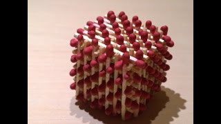 How to make a cube from the matches - part I : base(Как да направим кубче от кибритени клечки)