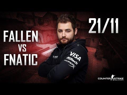 CS:GO POV FalleN vs fnatic | 21/11 (Inferno) @ DreamHack Open Summer 2017