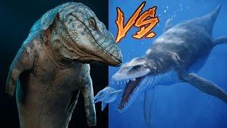 Mosasaur vs Liopleurodon   Ancient Monster Fight