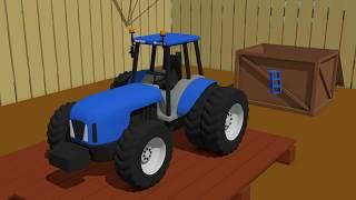Blue Tractor For Kids | Formation and uses - building | Niebieski Traktor Tworzenie i Zastosowanie