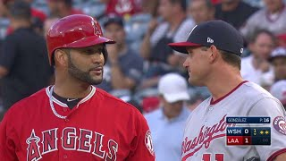 WSH@LAA: Pujols opens the scoring with a single