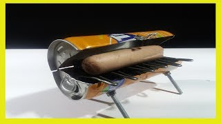 DIY Amazing Mini BBQ from Fanta Can at Home