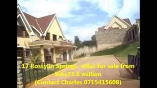 INTRODUCING ROSSYLIN SPRINGS FOR SALE ( Contact Charles 0715415608)