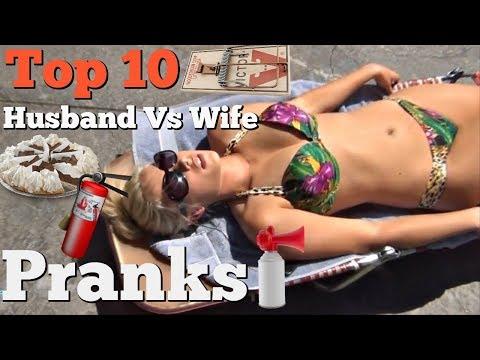 Xxx Mp4 TOP 10 HUSBAND VS WIFE SURPRISE PRANKS Pranksters In Love 2018 3gp Sex