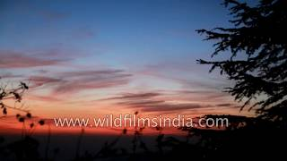 An evening of beautiful colours scattering over the sky | Landour, Uttarakhand