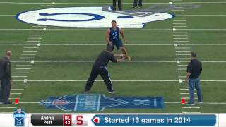 2015 Combine Workout: Andrus Peat