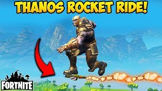 CAN YOU ROCKET RIDE THANOS?! - Fortnite Funny Fails and WTF Moments! #190 (Daily Moments)