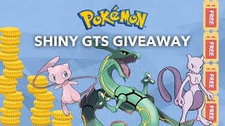 Pokemon GTS / GTS War Giveaway! 200+ Pokemon Choices! Everyone Wins! Unique system!