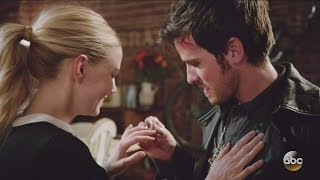 Once Upon A Time 6x17 Hook Proposes to Emma Second Time -This Time The Right Way Season 6 Episode 17