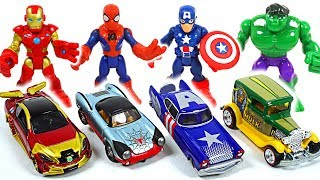 Tayo! We need to cars! Marvel Avengers Hulk, Spider Man Tomica, Hot Wheels! Go! - DuDuPopTOY
