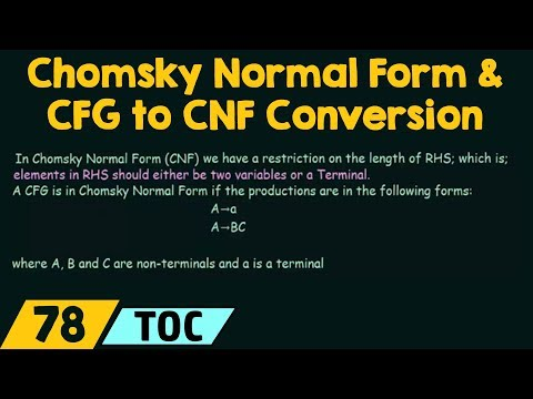 Chomsky Normal Form & CFG to CNF Conversion