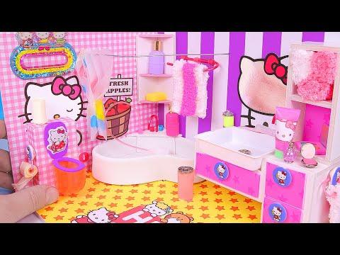 Xxx Mp4 DIY Miniature Hello Kitty Bathroom 3gp Sex