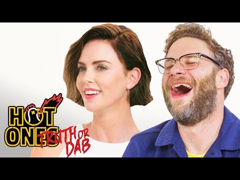 Seth Rogen and Charlize Theron Play Truth or Dab Hot Ones